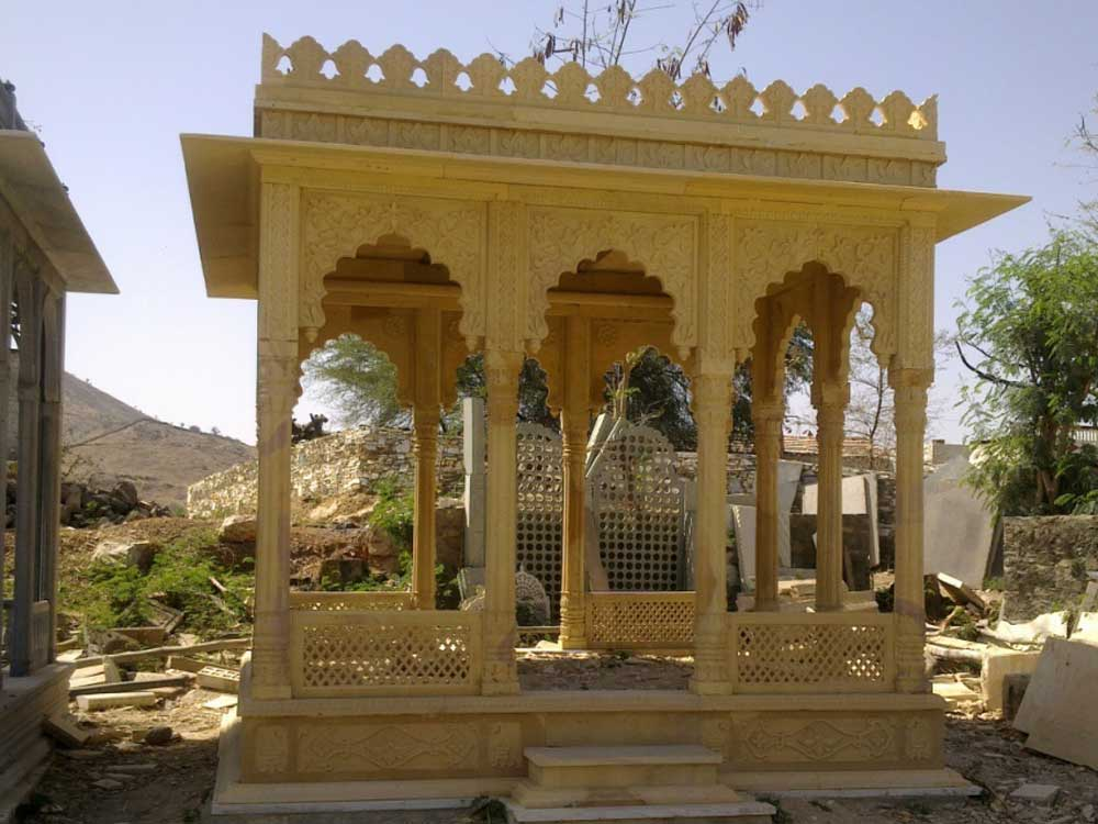 Marble and Sandstone Gazebo Manufacturer, Rajasthan - India