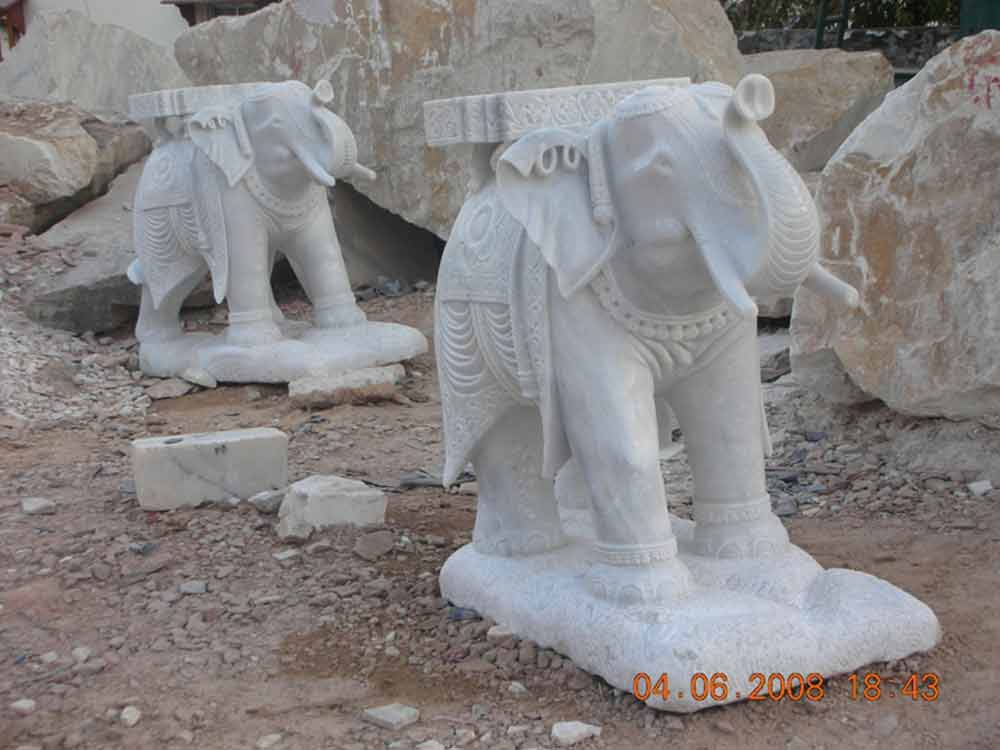 makrana marble elephant Statue :: Manufacturer of Elephant Statue Makrana Marble