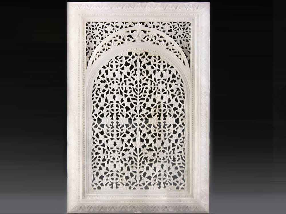 intricate marble jali : white marble intricate jali