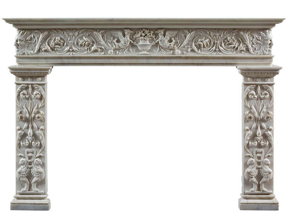 marble fire place : marble stone fireplace mantel manufacturer india