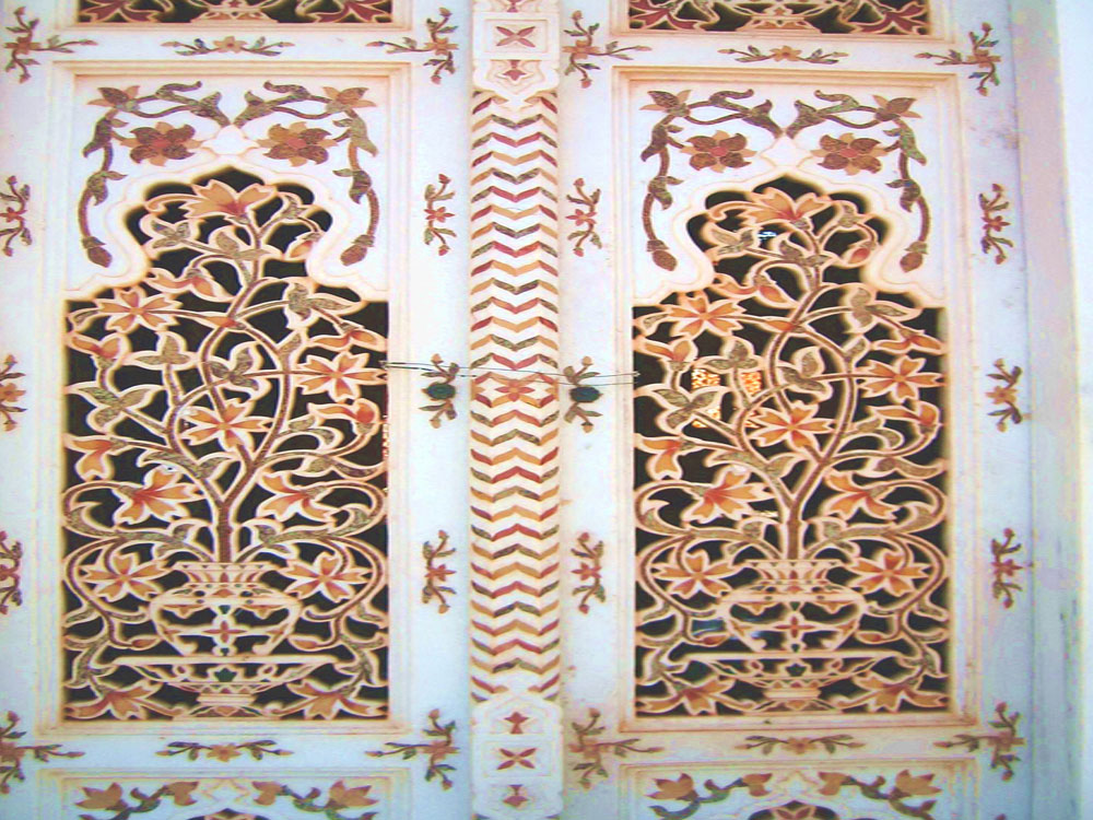 marble inlay gate
