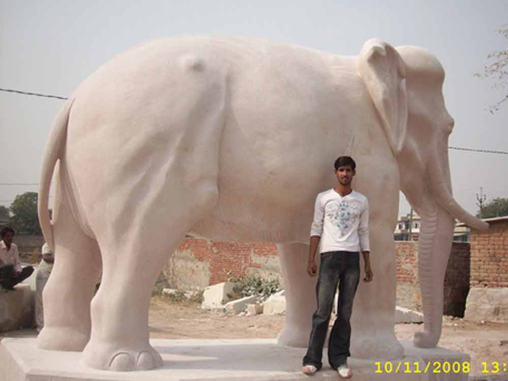 sandstone elephant statue manufacturers from Rajasthan - India