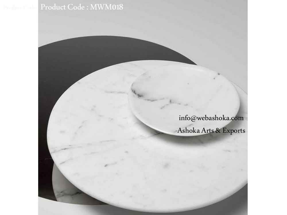 White Marble Platter And Plate