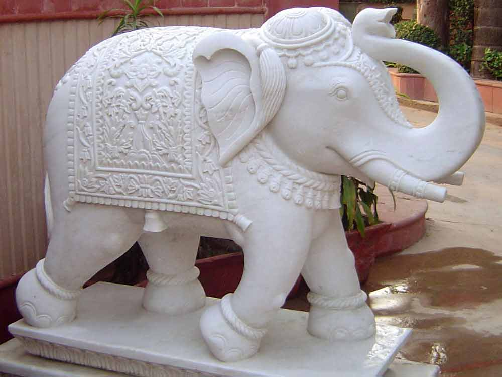 white marble elephant statue manufacturers rajasthan- india