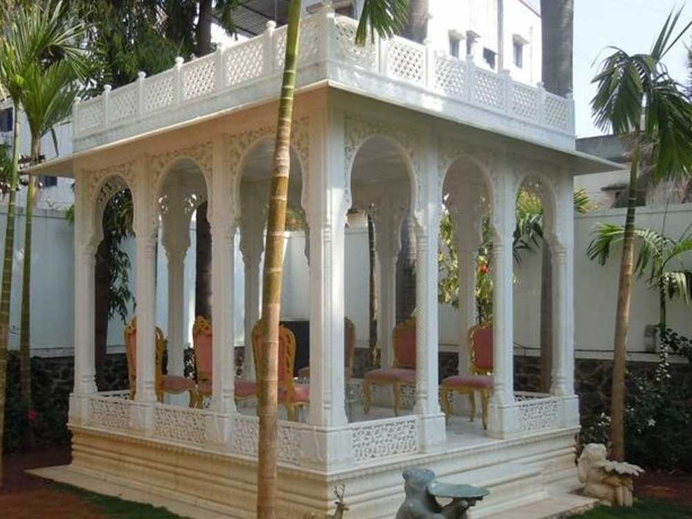 indian garden gazebo : Sandstone Marble Garden Gazebo India