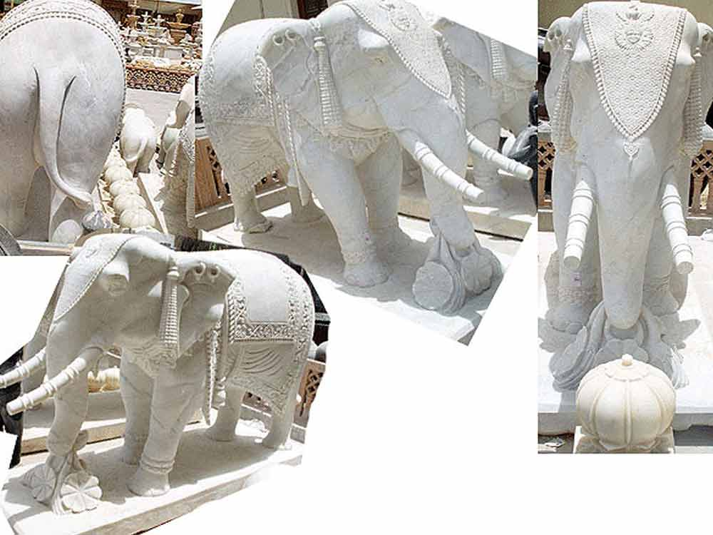 marble elephant carving : Stone elephant carving factory