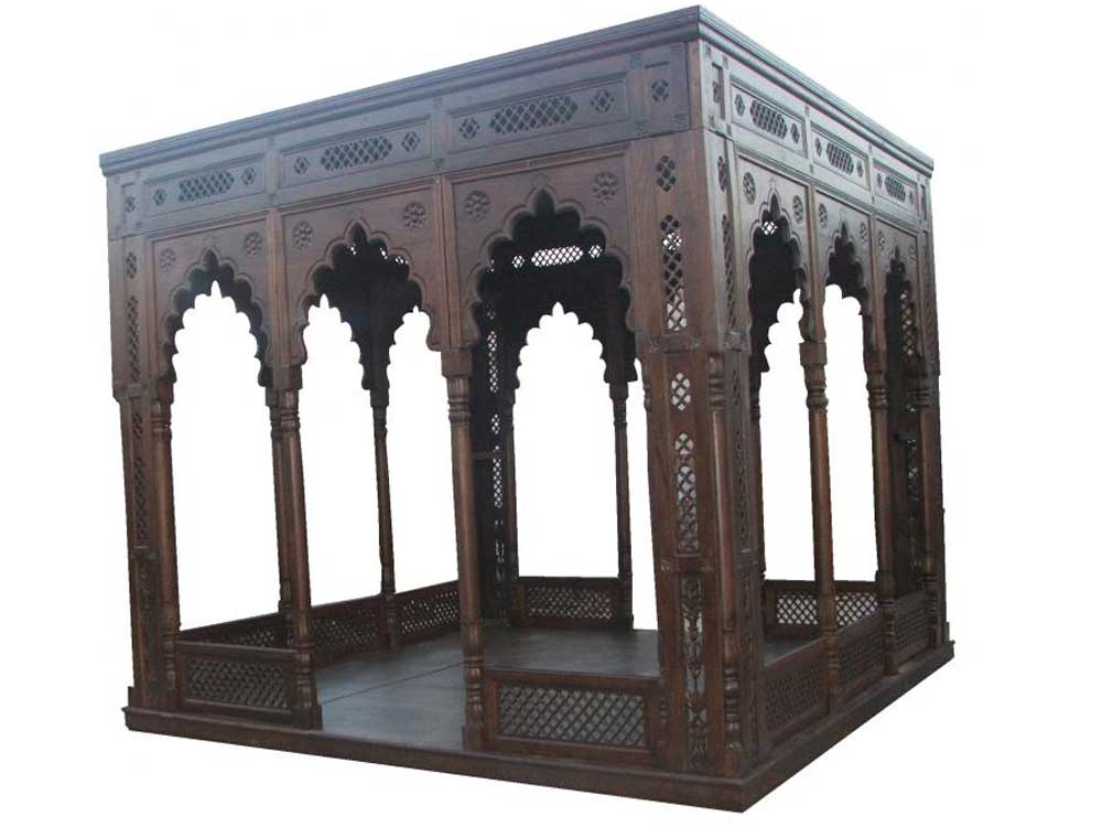 mugal wooden gazebo : wood gazebo : wooden mughal baradari
