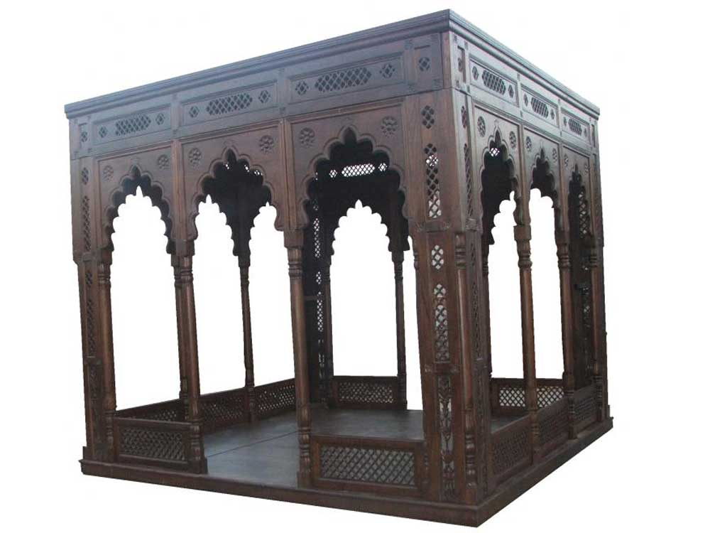 wooden gazebo : India carved wood gazebo Manufacturers